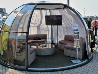 For habitat exhibition - Alukov kiosk - spa dome orlando