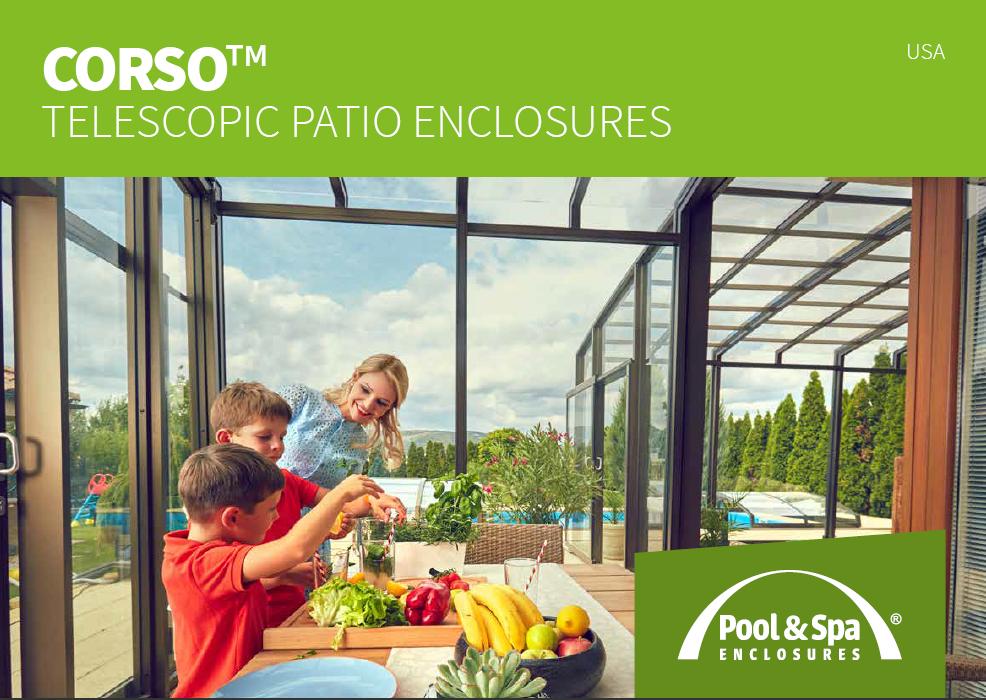 Catalog of patio enclosures CORSO for download