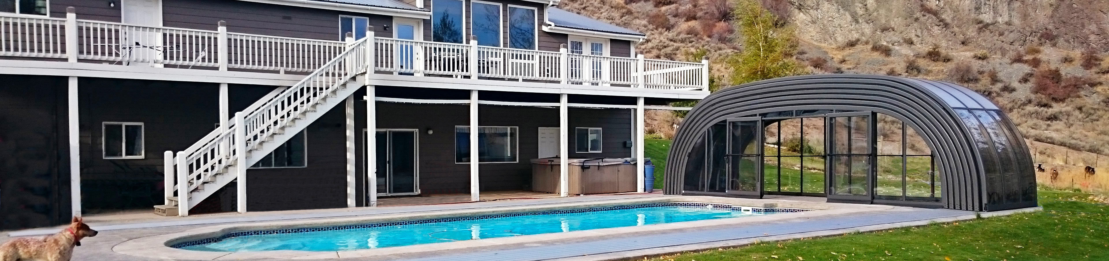 Retractable swimming pool enclosure laguna sunrooms Retractable swimming pool enclosures
