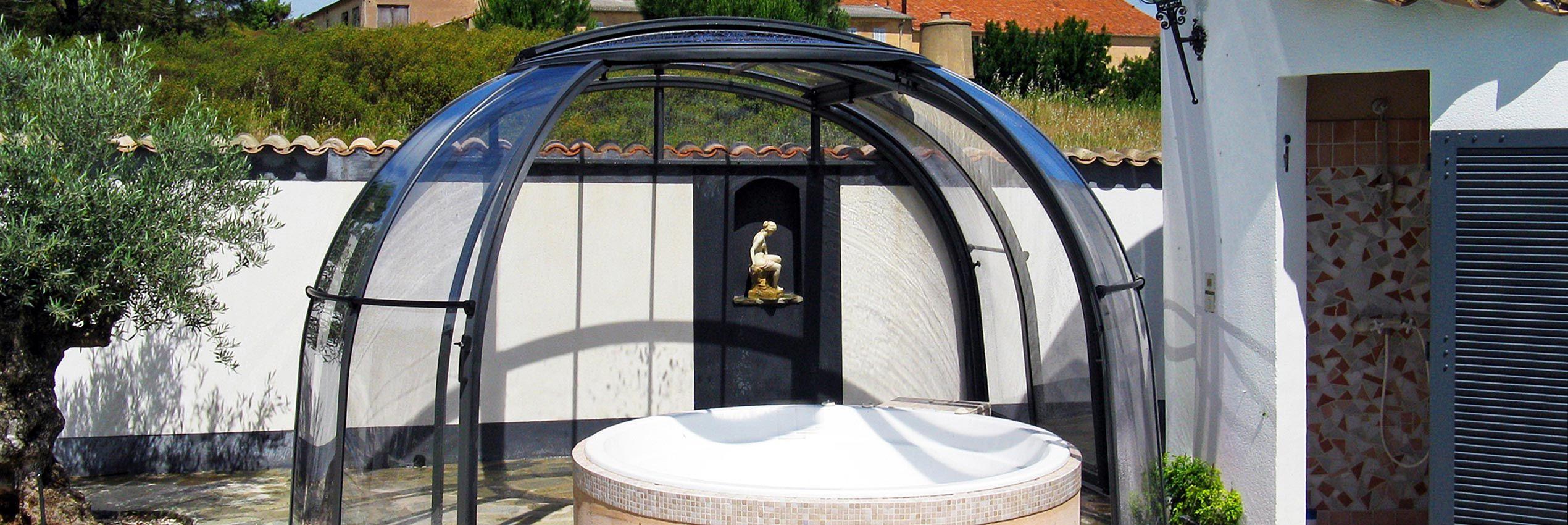 Opened enclosure