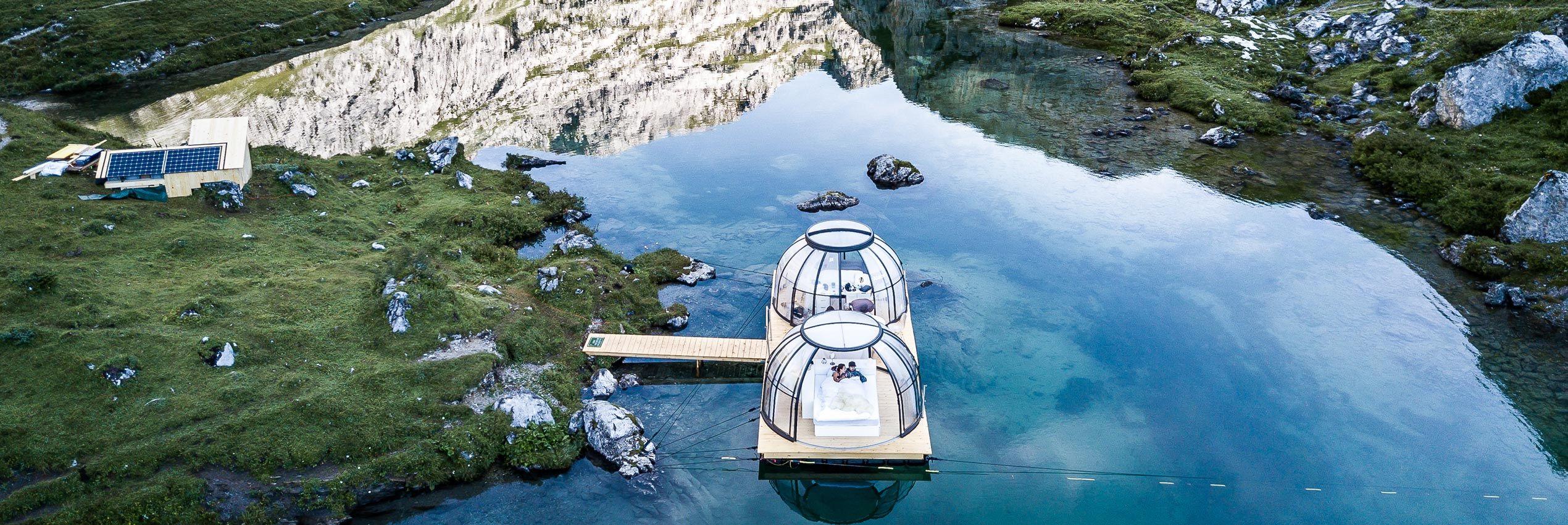 Opened retractable hot tub enclosure Spa Dome Orlando