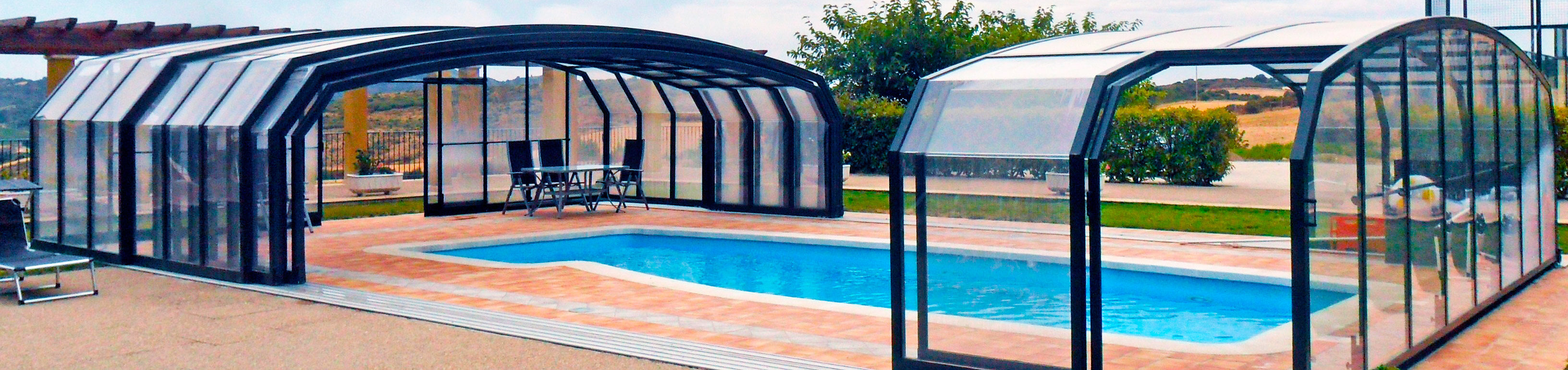 Retractable swimming pool enclosure oceanic high sunrooms Retractable swimming pool enclosures