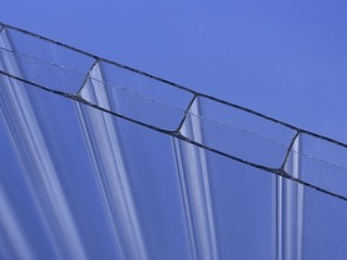 10mm blue twin wall polycarbonate