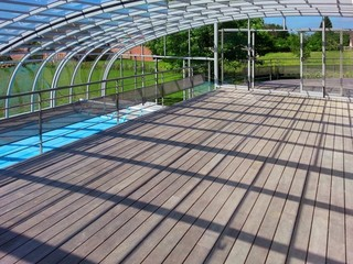 2in1 - pool and patio enclosure Style is designed to cover large areas