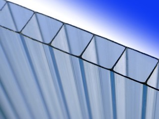 8mm or 10mm clear twin wall polycarbonate