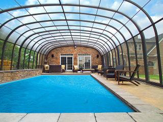 A look inside swimming pool enclosure Laguna