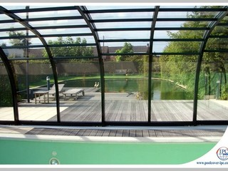 Aluminum profiles of pool enclosure Tropea