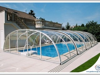 Pool enclosure tropea retractable pool cover sunrooms for Pool enclosure design software