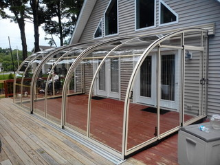 Clear And Elegant Patio Enclosure CORSO Entry   Veranda Cover