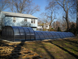 Combined pool enclosure from Pool and Spa Enclosures