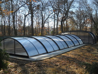Combined pool enclosure - low and high enclosure