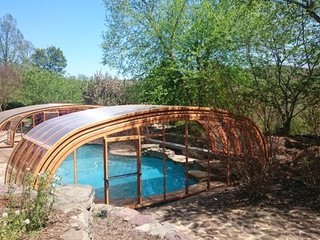 Custom made atypical pool enclosure Laguna