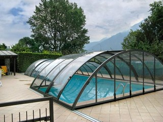 Custom made combined pool enclosure - low and high designs combined