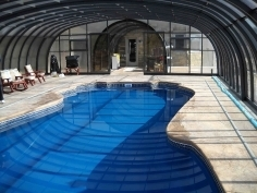 Custom made pool enclosure for Dmitry and Anna from New Jersey
