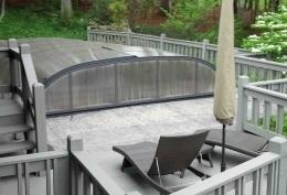 Custom made pool enclosure for Joseph and Karen from North Carolina