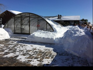 Dennis and Gays pool enclosure Universe under snow load