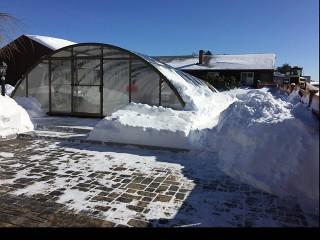 Dennis and Gays pool enclosure Universe under snow load