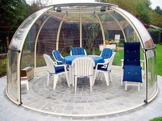 Dining room under Hot Tub enclosure