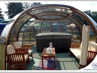 Fully opened Hot Tub Enclosure Spa Sunhouse