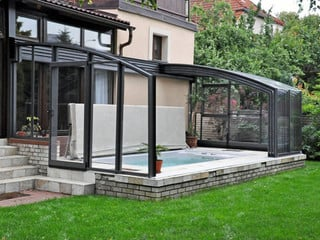 Get two in one - patio and pool enclosure with our CORSO patio enclosure