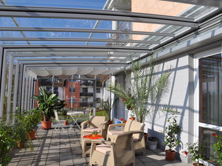 ... Horeca Enclosure Corso Glass   Retractable Patio Enclosure For Hotels,  Restaurants And Cafes ...