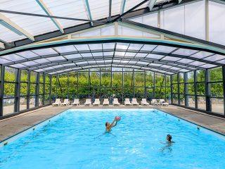 Horeca swimming pool enclosure  at Camping Chalepark De Klimperg