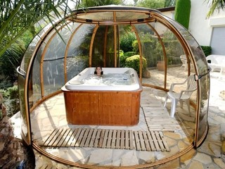 Hot Tub enclosure creates indoor paradise in a minute