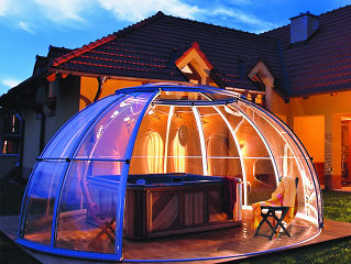 Oval jacuzzi enclosure SPA DOME ORLANDO