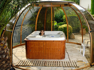 Retractable hot tub enclosure SPA DOME ORLANDO