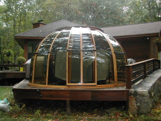 Hot Tub Enclosure Spa Dome Orlando on porch