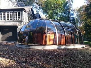 Hot tub enclosure Sunhouse from Pool and Spa Enclosure USA
