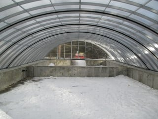 Inside look - pool enclosure used over water reservoir