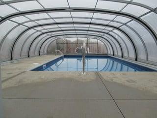 Inside space of custom made pool enclosure Laguna