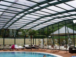 Large swimming pool enclosure at Cardigan Bay Holiday Park
