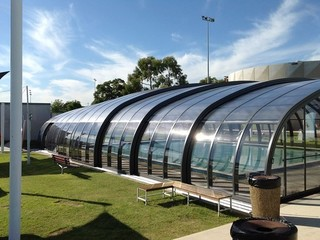 Massive swimming pool enclosure - commercial application