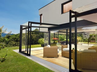 Opened Patio enclosure CORSO Ultima