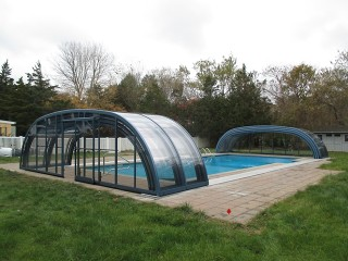 Opened swimming pool enclosure Tropea NEO