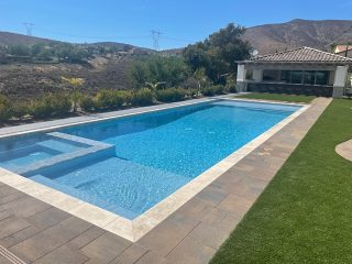 Opened swimming pool with enclosure Terra