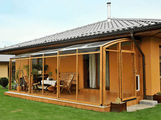 Patio enclosure CORSO premium - woodlike imitation