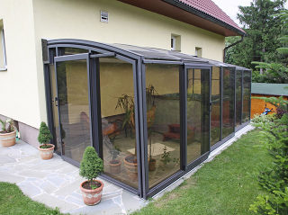 Patio enclosure CORSO Premium - installed in Iceland