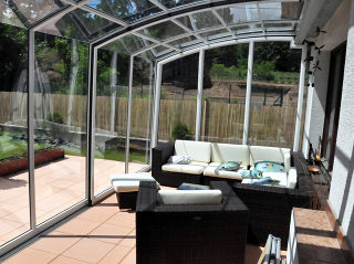 Retractable patio enclosure CORSO Premium