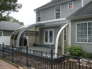 Patio Enclosure CORSO Entry - fully opened and inviting joy