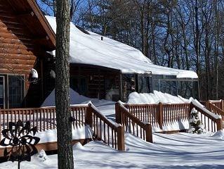 Patio enclosure Corso Premium in winter