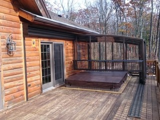 Patio enclosure - sunroom idea CORSO Premium can even cover your hot tub