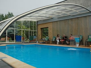 Pool and patio enclosure Style - combine pool and patio with one enclosure
