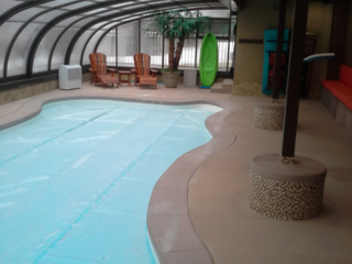 Pool and patio enclosure Style - over the patio and pool - that is the duty for this enclosure