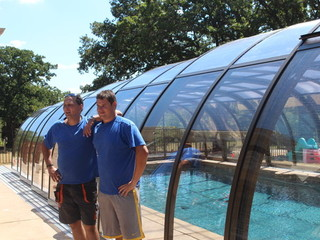 Pool and Spa Enclosures install team after work done