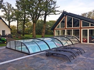 Pool enclosure Elegant NEO - anthracite finish