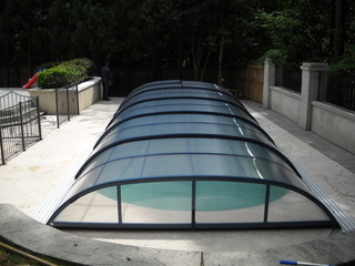 Pool enclosure Elegant - retractable swimming pool enclosure