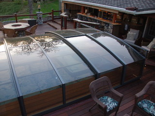 Pool Enclosure Imperia - low line pool cover - fully closed
